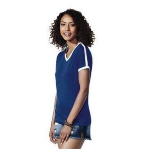 LAT Ladies V-neck Fine Jersey Soccer Tee