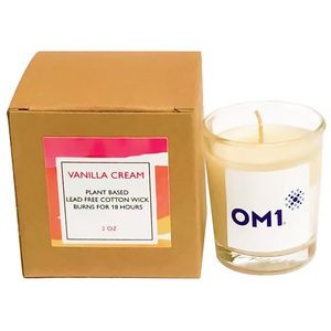 Eco-Friendly Vanilla Cream Plant Based Candle