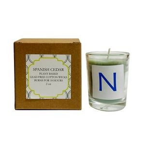 Eco-Friendly Spanish Cedar Plant Based Candle