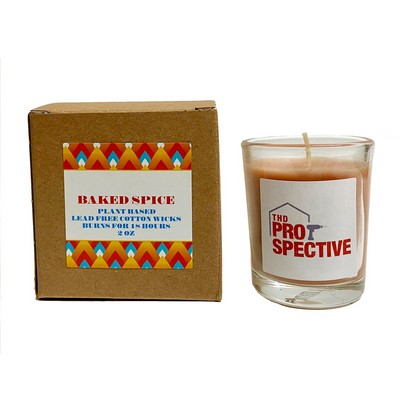 Eco-Friendly Baked Spice Plant Based Candle