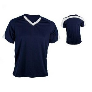 Youth Cool Mesh Soccer Jersey Shirt w/ Contrasting Back & Sleeve