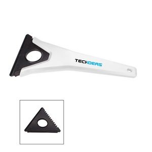 the Essentials Tri-Edge Ice Scraper - White
